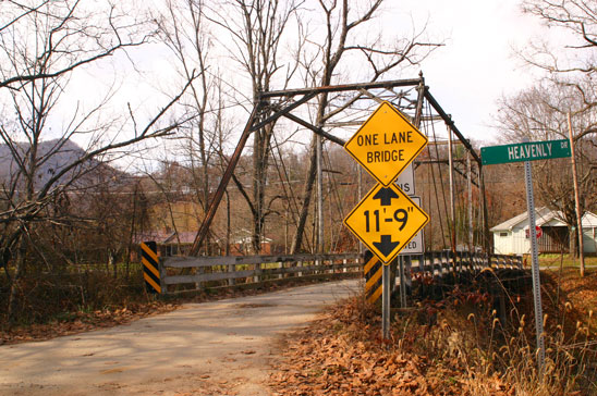 The old Lake Logan bridge